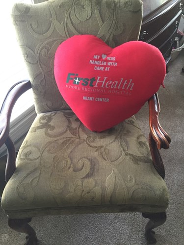 charlie smith heart pillow