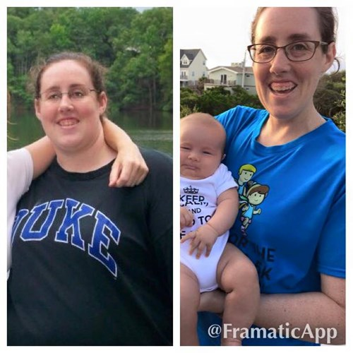 Katharine Vess down 125 lbs. - before & after